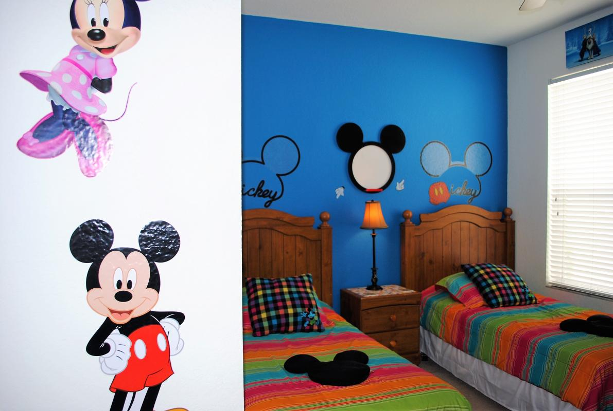 Kids love the Mickey themed room, with ensuite.